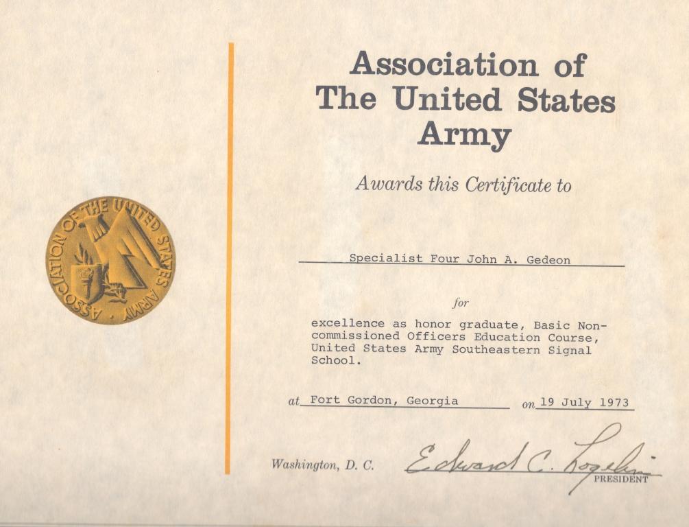 Certificates Diplomas Dr Gedeon